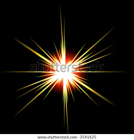 star isolated on black - stock photo