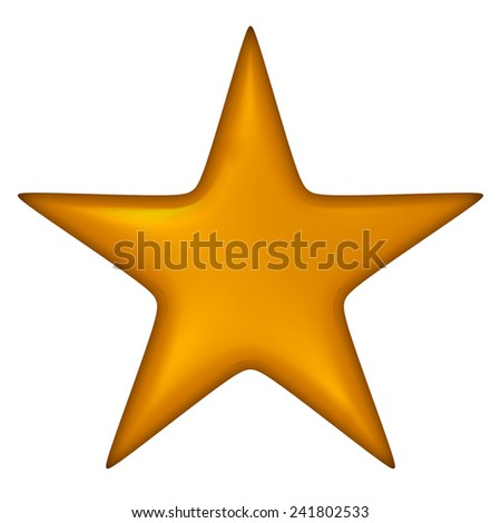 Star isolated on white. - stock photo