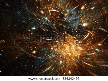 Star light effect. Abstract sparkle beautiful motion color background for a night disco party. Glitter decoration pattern. Brilliant dynamic texture. Fractal artwork for creative graphic design - stock photo