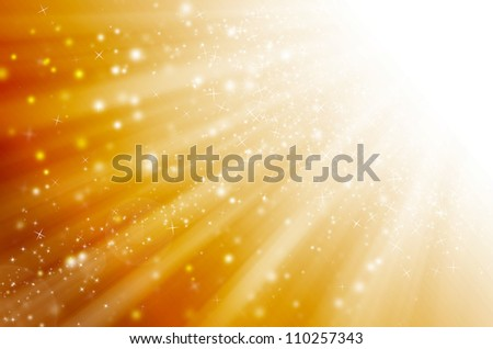 star light with golden background. - stock photo