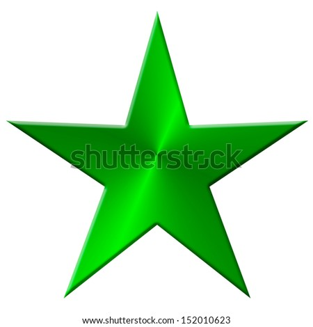 Star metal, green - stock photo