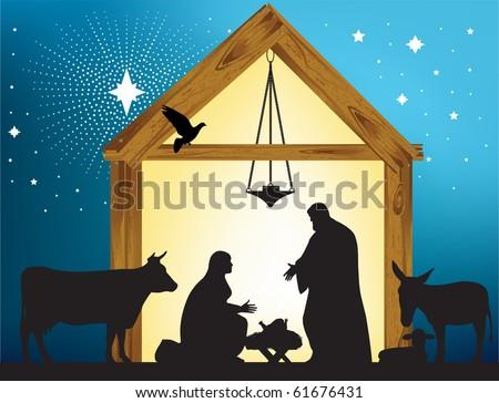Star of Bethlehem. Raster version of vector illustration. - stock photo