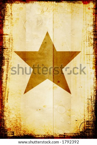 star on a grungy background - stock photo