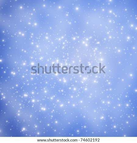 Star on space - stock photo