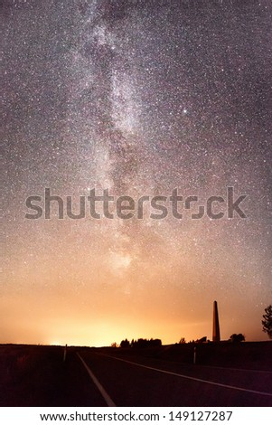 Star on the dark  - stock photo