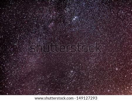 Star on the dark  - stock photo