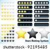 Star Rating System - Jpeg Version - stock photo
