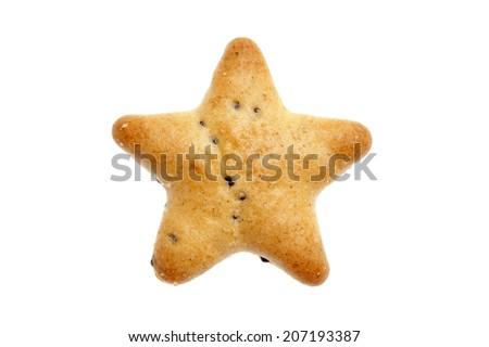 star shaped cracker on white background - stock photo
