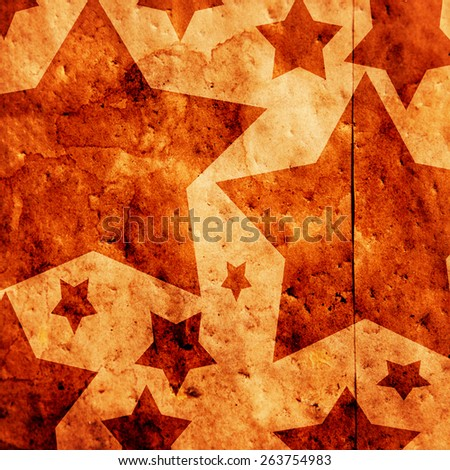 star shapes on a paper bag with an overlay filter - stock photo