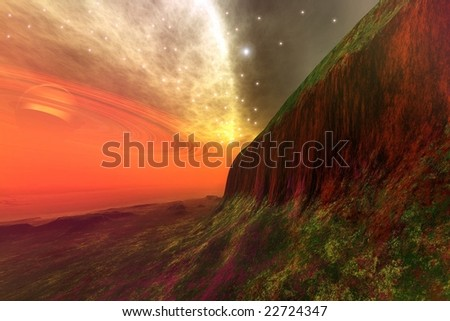 STAR STUFF - Cosmic landscape. - stock photo