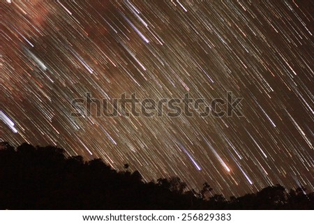 Star Trail - stock photo