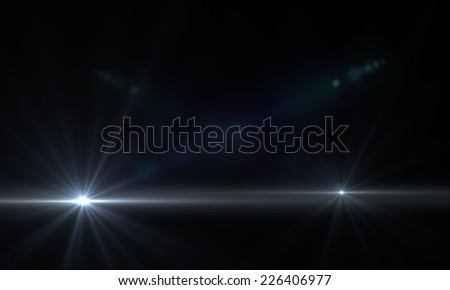 star with lens flare and sci- fi  tech background made in 3d software - stock photo