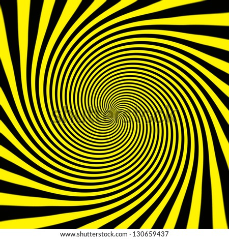 Starburst background, sunbeams going in all directions, yellow and black - stock photo