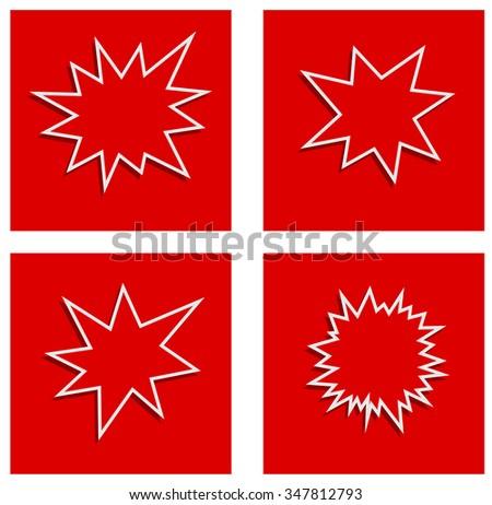 starburst splash star abstract banner - stock photo