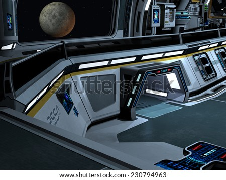 Starcarrier inside - stock photo