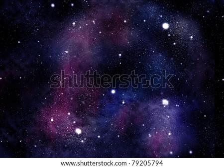 starfield fabula - stock photo