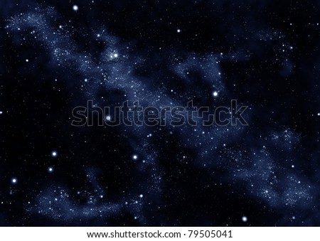 starfield whirl - stock photo