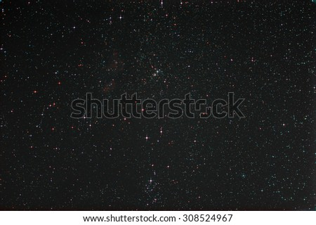 Starfield with Perseus and Milky Way  - stock photo