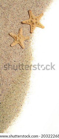 Starfish and sand - vacation concept, similar available - stock photo