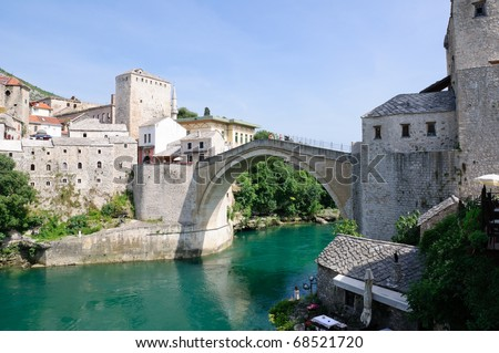 Stari Most - Mostar, Bosnia and Herzegovina - stock photo