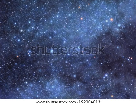Starry background - stock photo