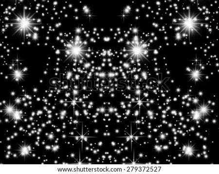 Starry background - stock photo