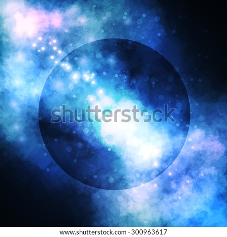 Starry background, rich star forming nebula, colorful abstract illustration - stock photo