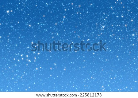 Starry night on a gradient background. - stock photo