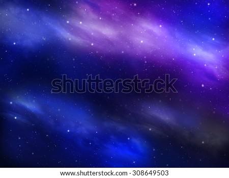 starry night sky - stock photo
