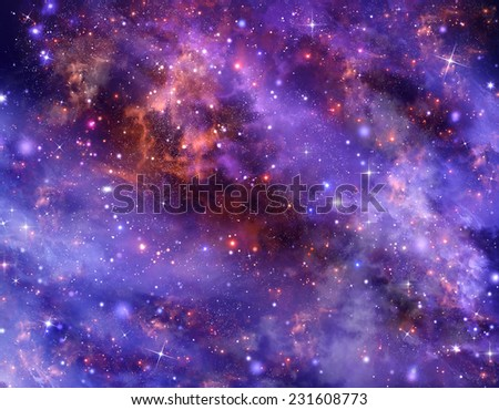 starry night sky deep outer space, abstract  background  - stock photo
