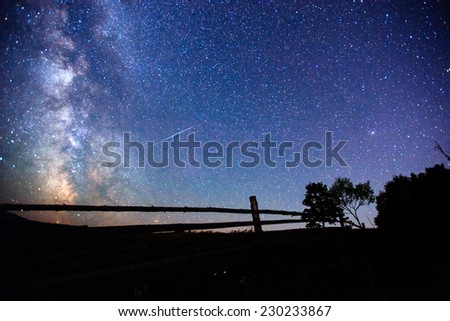 starry sky  - stock photo