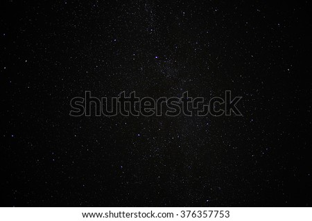 starry sky background - stock photo