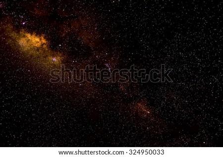 Stars and galaxy space sky night background, Africa, Kenya  - stock photo