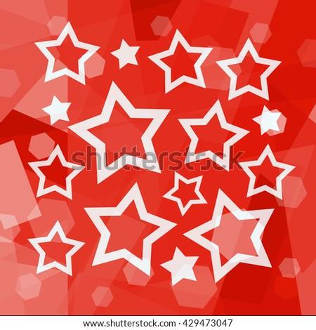 Stars background - stock photo