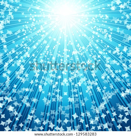 Stars background, illustration for your design. - stock photo