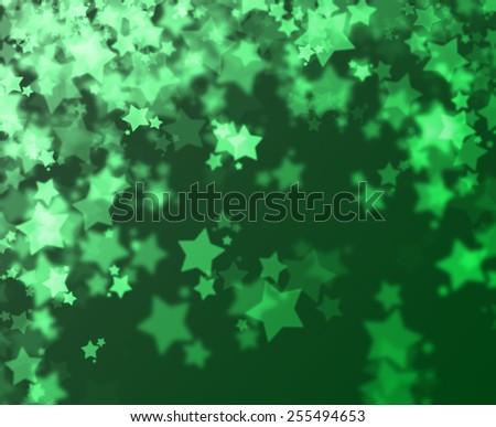 Stars bokeh abstract light background - stock photo