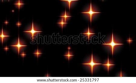 Stars glowing - stock photo