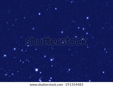 Stars in a zodiacal constellation of Gemini. - stock photo