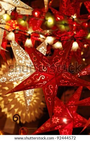 Stars in the Christmas season - stock photo
