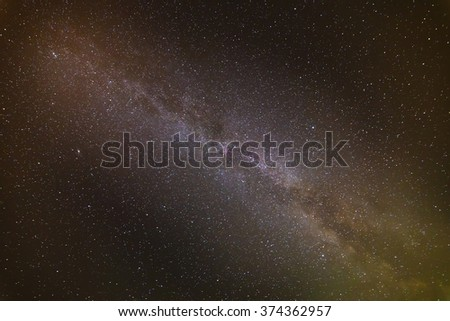 Stars in the night sky. night background - stock photo