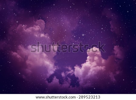 Stars in the night sky,purple background. - stock photo