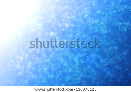 Stars light on blue backgrounds. - stock photo