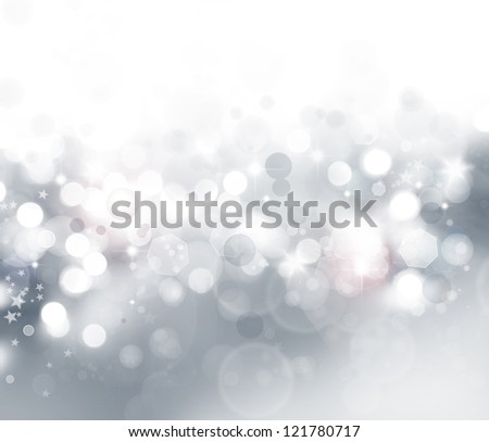 Stars on abstract grey and white background - stock photo