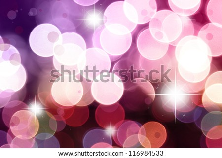 Stars on purple and pink tone background - stock photo