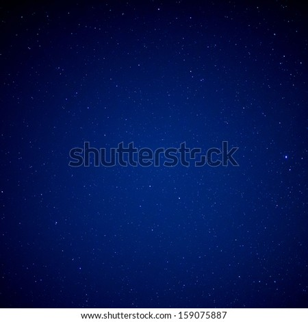 Stars on sky at night - stock photo