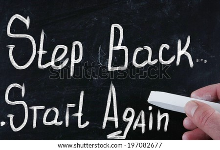 start again concept - stock photo