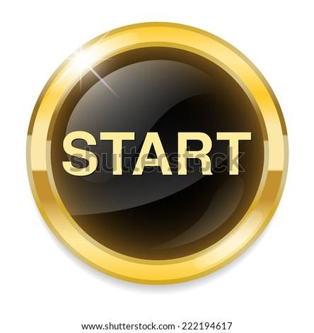 START button - stock photo