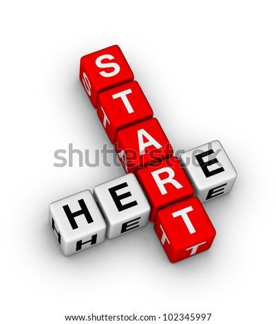 start here icon - stock photo
