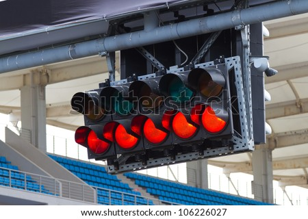 Start lights - stock photo