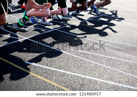 Start of a sprint - stock photo